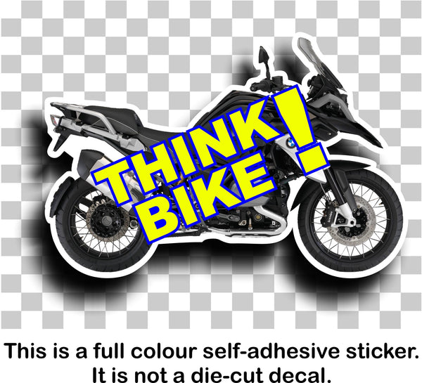Think bike safety awareness vinyl sticker decal - BMW 1200GS Adventure - Enhance With Vinyl