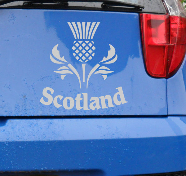 Scottish Scotland thistle vinyl decal sticker for car or bike