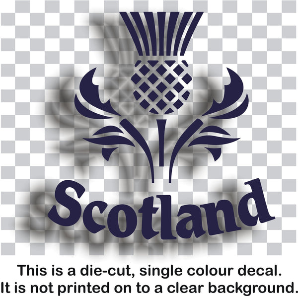 Scottish Scotland thistle vinyl decal sticker for car or bike - Enhance With Vinyl