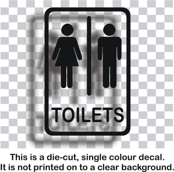Toilet signs #2 - vinyl unisex ladies and gents door sticker - Enhance With Vinyl