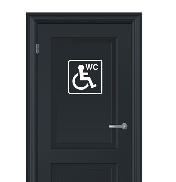 Toilet signs #5 - vinyl disabled wheelchair unisex ladies or gents WC door sticker - Enhance With Vinyl