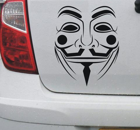 V for Vendetta decal #3 - Anonymous Guy Fawkes legion mask car vinyl sticker - Enhance With Vinyl