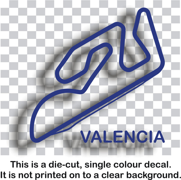 Valencia - Italian race circuit vinyl decal sticker graphic - Enhance With Vinyl
