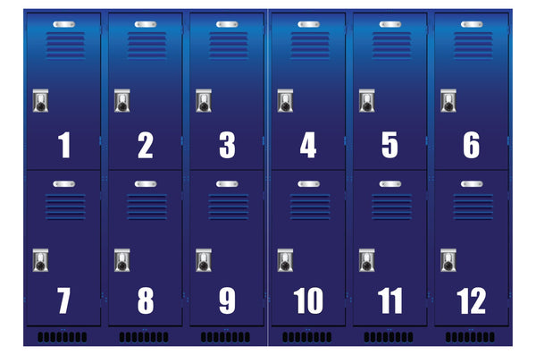 "2x Self Adhesive Weatherproof Vinyl Wheelie Bin Numbers Stickers 6.5"" (165mm)"