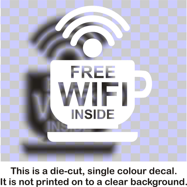 Wi-FI sticker #4 - vinyl decal graphic for business, shop and retail - Enhance With Vinyl