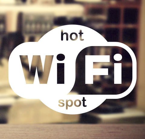 Wi-FI sticker #2 - vinyl decal graphic for business, shop and retail - Enhance With Vinyl
