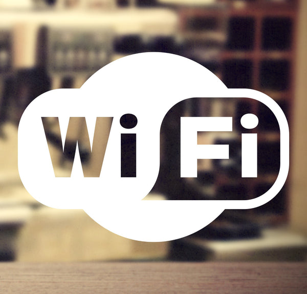 Wi-FI sticker #3 - vinyl decal graphic for business, shop and retail - Enhance With Vinyl