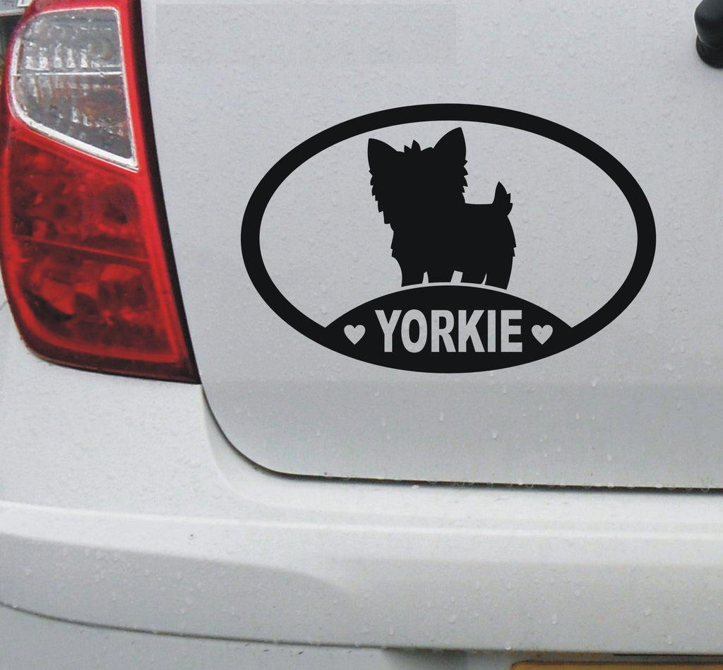 I love my Yorkie vinyl decal sticker - yorkshire terrier, car window - DEC1105 - Enhance With Vinyl