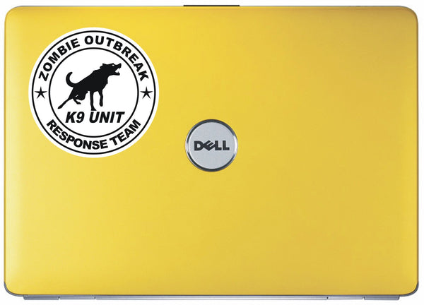 Zombie Response Team - K9 Unit #3 - printed self-adhesive sticker
