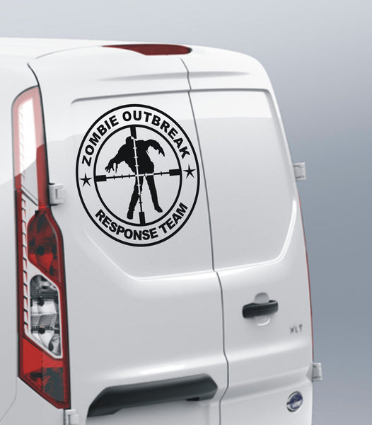 Zombie Outbreak Response Team #6 - Scope cross hairs - Large vinyl decal sticker - Enhance With Vinyl