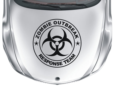 Zombie Outbreak Response Team #1 - Biohazard - Large vinyl decal sticker - Enhance With Vinyl