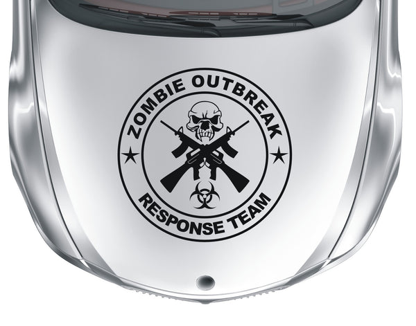 Zombie Outbreak Response Team #2 - Skull and cross guns - Large vinyl decal sticker - Enhance With Vinyl