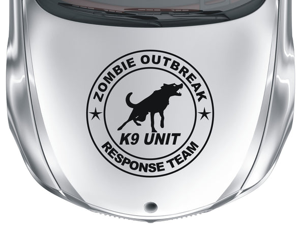 Zombie Outbreak Response Team #3 - K9 unit - Large vinyl decal sticker - Enhance With Vinyl