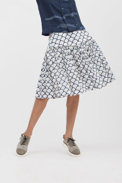 Fish Scale Yoke Skirt