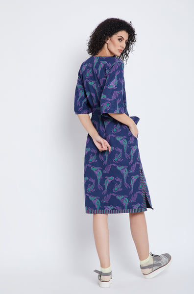 Cosmic Koi Midi Dress