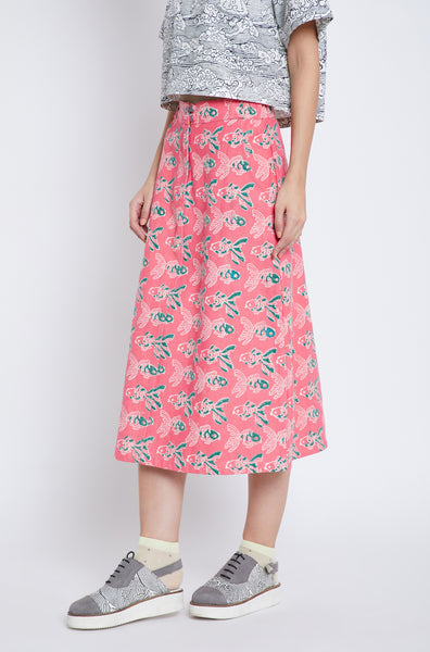 Techno Goldfish Midi Skirt