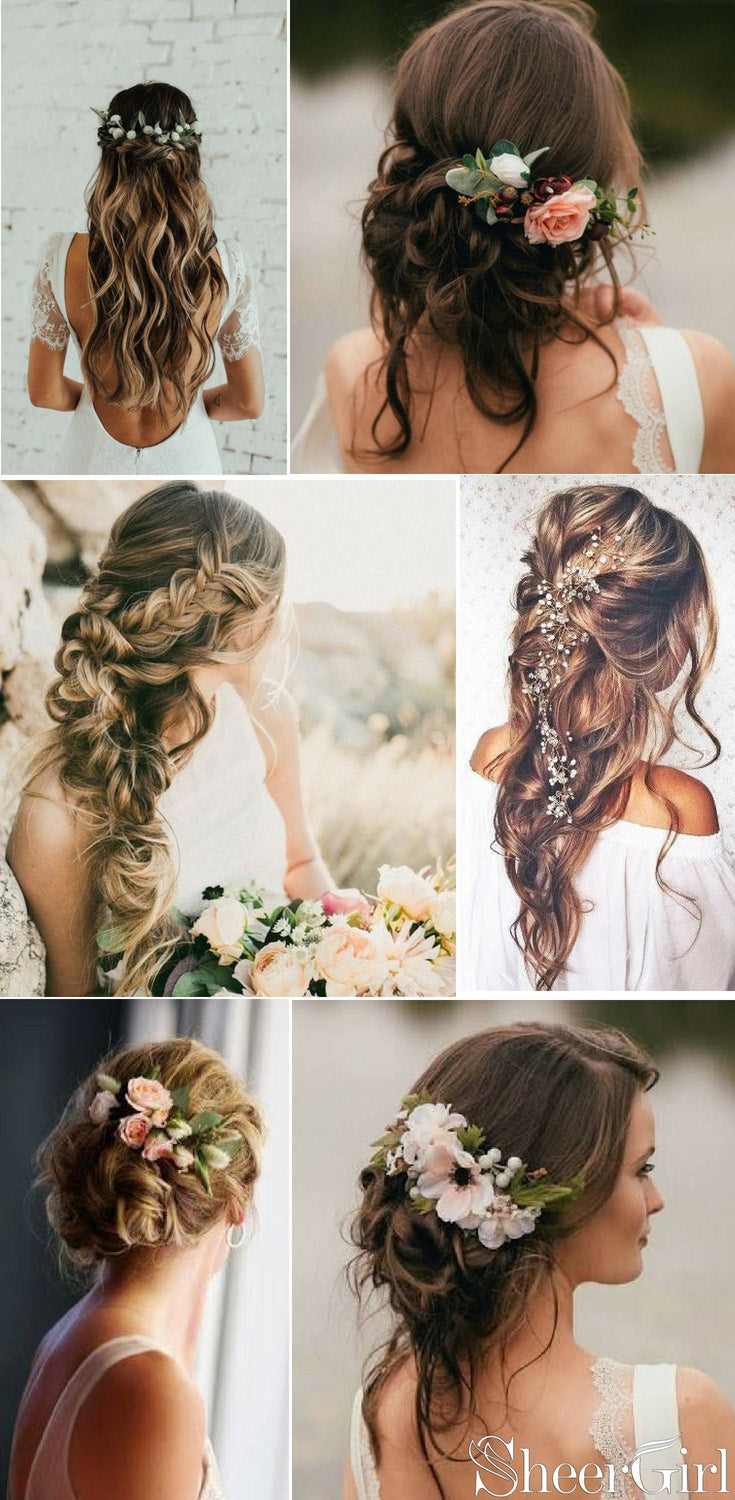 Beach wedding hair styles for bride