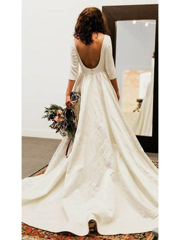 products/34-sleeve-modest-wedding-dresses-backless-simple-long-sleeve-wedding-dress-awd1135.jpg