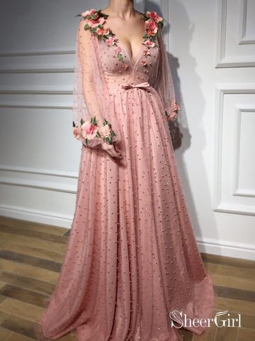 products/3d-floral-long-sleeve-pink-prom-dresses-pearl-beaded-v-neck-formal-dress-ard1947.jpg