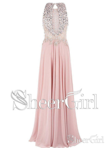 products/a-line-beaded-lace-long-pink-prom-dresses-open-back-plus-size-evening-dresses-apd3335-2.jpg