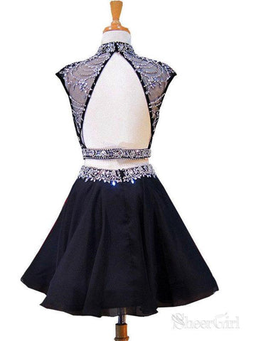 products/a-line-black-chiffon-with-beaded-2-piece-homecoming-dresses-apd2751-sheergirl-2.jpg