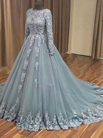 products/a-line-grey-tulle-lace-appliqued-long-sleeves-wedding-dresses-quinceanera-dressesapd2518-sheergirl-2.jpg