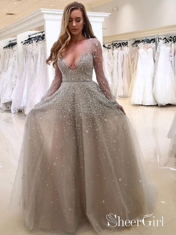 products/a-line-grey-tulle-with-beaded-deep-v-neck-sexy-prom-dresses-with-sleeves-apd2759-sheergirl-2.jpg