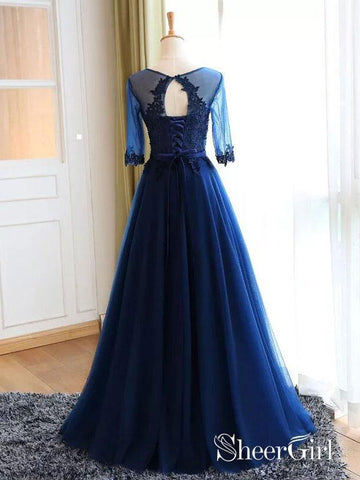 products/a-line-lace-appliqued-navy-tulle-long-prom-dresses-half-sleeves-apd2874-2.jpg