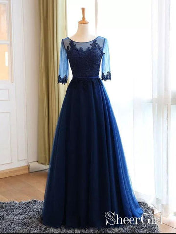 products/a-line-lace-appliqued-navy-tulle-long-prom-dresses-half-sleeves-apd2874.jpg