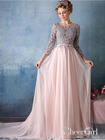 products/a-line-pink-chiffon-with-silver-lace-appliqued-long-prom-dresses-with-34-sleevesapd2678-sheergirl.jpg