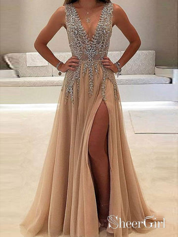products/a-line-v-neck-evening-dress-with-slit-sexy-shiny-rhinestone-long-prom-dresses-apd2079-sheergirl-2.jpg