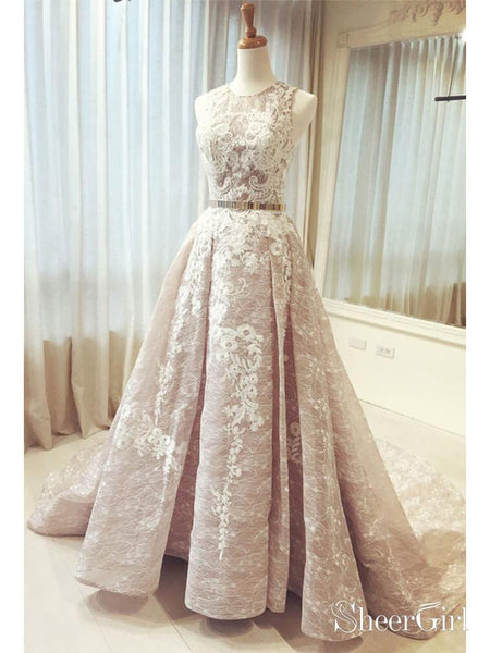 Ball Gown Lace Princess Prom Dress Cheap Quinceanera Dress ARD1931-SheerGirl