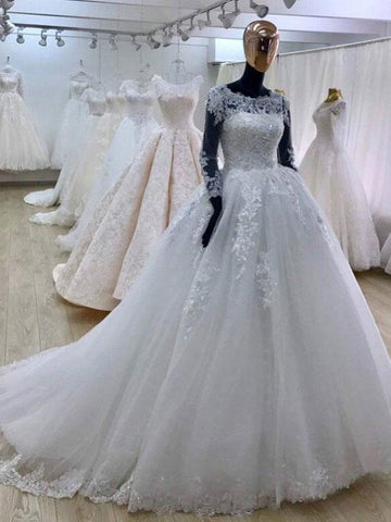 products/ball-gown-scoop-neck-tulle-lace-appliqued-bridal-wedding-dresses-with-long-sleevesapd2672-sheergirl.jpg