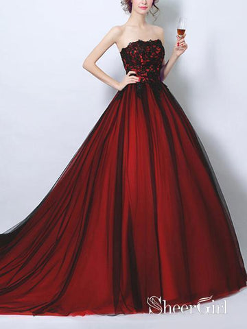 products/ball-gown-strapless-black-tulle-red-satin-prom-dresses-with-sweep-train-apd3039.jpg