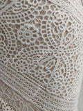 Ivory Lace Beach Wedding Dresses Sweetheart Neck Rustic Boho Wedding Dresses AWD1156-SheerGirl