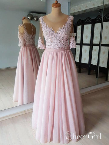 products/see-through-pink-prom-dresses-lace-half-sleeve-wedding-guest-dresses-apd3505.jpg