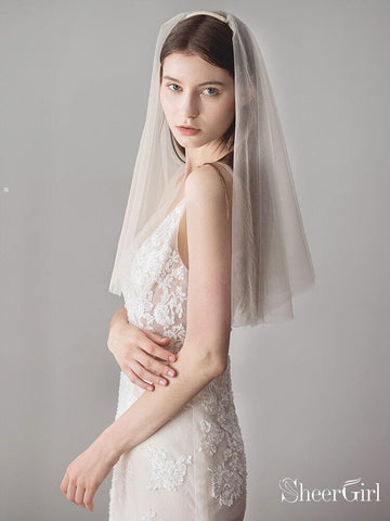 products/simple-champagne-short-wedding-veils-blusher-veil-acc1083.jpg