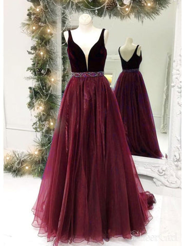 products/simple-v-neck-maroon-organza-prom-dresses-with-slit-and-velvet-top-ard2133-2.jpg