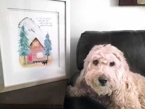 Greetings From Luna Dog Art Print Reviews