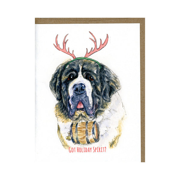Got Holiday Spirit? - Dog Christmas Card