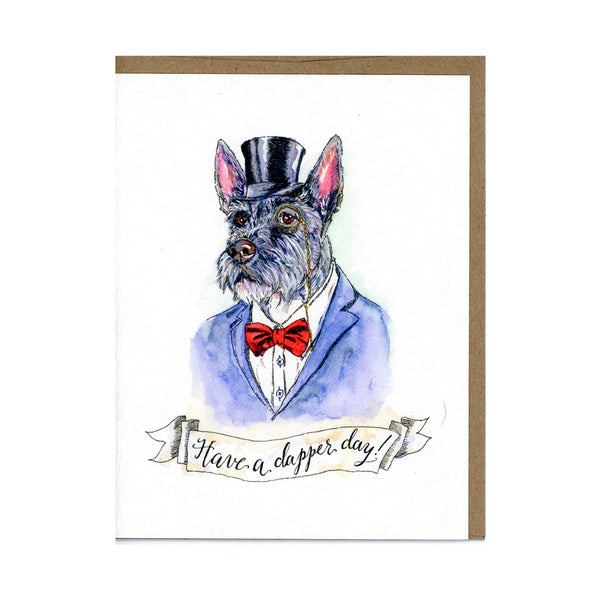 Dapper Dog Card