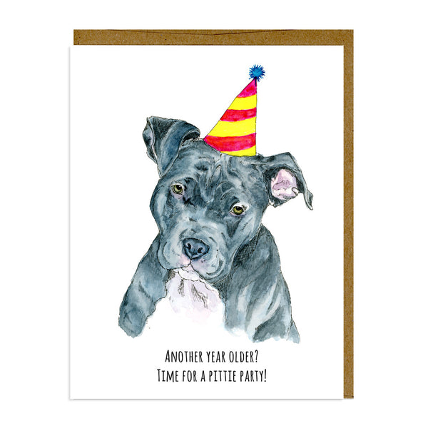 Pit Bull Birthday Card