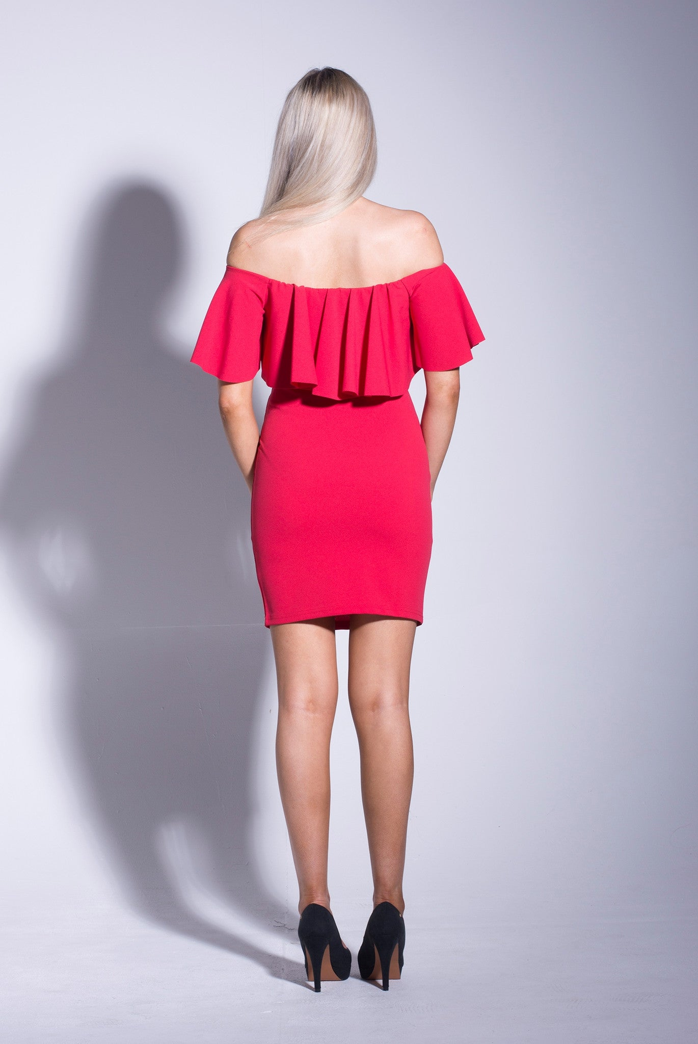 Red-Bardot-Frill-Bodycon-Dress