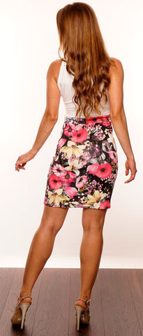 Multicoloured Floral Mini Dress