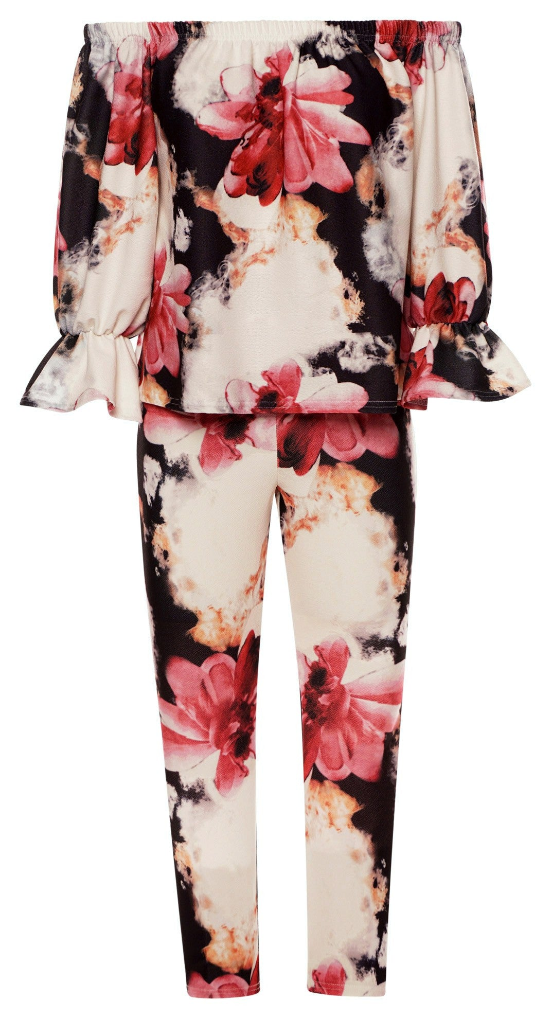 Floral Printed Two Piece Set