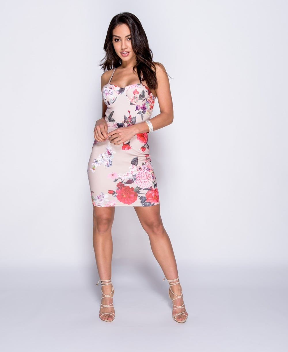 93781ba0412a Floral Print Bodycon Dress | Laboutique21