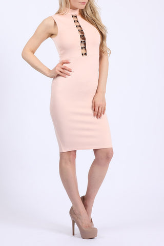 Cut Out Ring Bodycon Dress