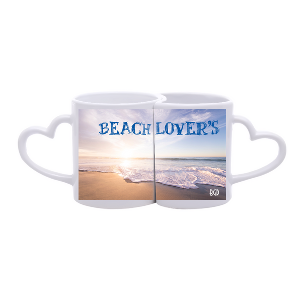 Beach Lover's Custom Made Couple Mug
