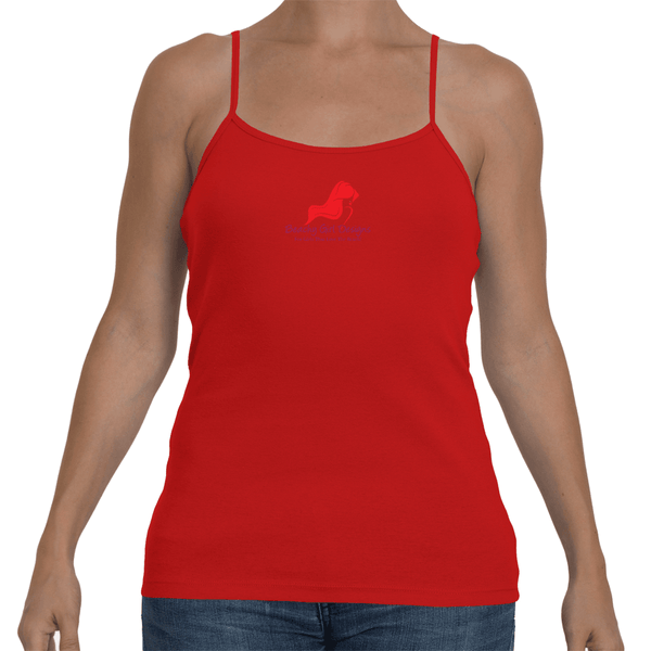 Ladies' Spaghetti Strap Tank Top, (product type), (product vendor), (shop name)- Beachy Girl Designs