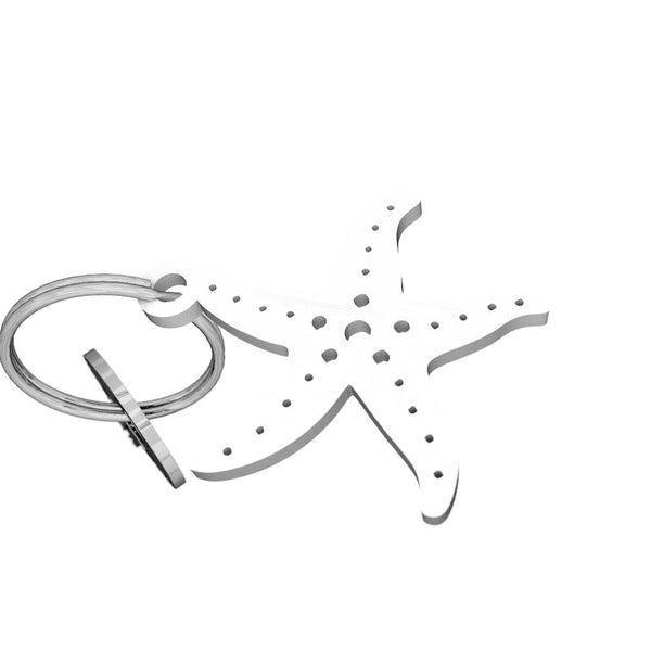 Sea Life-Starfish Keychain, (product type), (product vendor), (shop name)- Beachy Girl Designs